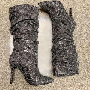 Jessica Simpson LAYZER glitter gano Pewter Multi